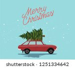 merry christmas and happy new... | Shutterstock . vector #1251334642