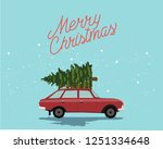 merry christmas and happy new... | Shutterstock .eps vector #1251334648