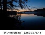 slightly foggy twilight shot of ... | Shutterstock . vector #1251337645