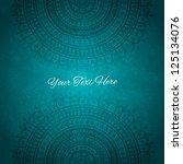 dark blue ornament background.... | Shutterstock .eps vector #125134076
