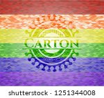 carton lgbt colors emblem  | Shutterstock .eps vector #1251344008