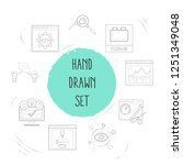 set of web design icons line...   Shutterstock .eps vector #1251349048