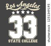 california sport wear t shirt...   Shutterstock .eps vector #1251349195