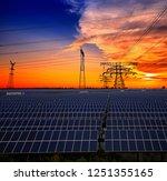 solar panels and pylon | Shutterstock . vector #1251355165