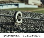 the end knot of steel rope.... | Shutterstock . vector #1251359578