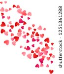 red flying hearts bright love... | Shutterstock .eps vector #1251361288