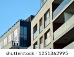 modern apartment buildings on a ... | Shutterstock . vector #1251362995