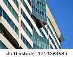 facade fragment of a modern... | Shutterstock . vector #1251363685