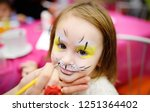 face painting for cute little... | Shutterstock . vector #1251364402