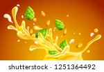 craft beer with hops and seeds...   Shutterstock .eps vector #1251364492