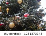 beautiful decorated christmas... | Shutterstock . vector #1251373345