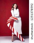 sexy pretty lady fashion model... | Shutterstock . vector #1251378592