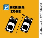 parking zone scene icons | Shutterstock .eps vector #1251387658