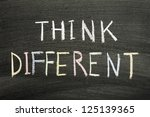 think different phrase... | Shutterstock . vector #125139365