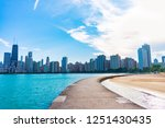 path along north avenue beach... | Shutterstock . vector #1251430435