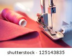 Sewing Process In The Phase Of...