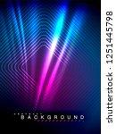 neon glowing wave  magic energy ... | Shutterstock .eps vector #1251445798