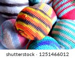 colorful handmade woven... | Shutterstock . vector #1251466012