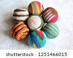 colorful handmade woven... | Shutterstock . vector #1251466015