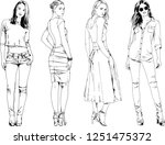 vector drawings on the theme of ... | Shutterstock .eps vector #1251475372