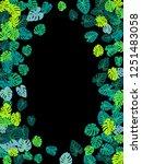 teal green tropical jungle... | Shutterstock .eps vector #1251483058