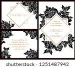 romantic wedding invitation... | Shutterstock . vector #1251487942