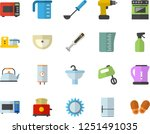 color flat icon set drill... | Shutterstock .eps vector #1251491035