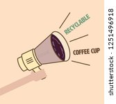 single use plastic coffee cup... | Shutterstock .eps vector #1251496918