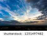 colorful dramatic sky with...   Shutterstock . vector #1251497482