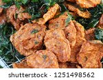 fried fish cake is delicious at ... | Shutterstock . vector #1251498562