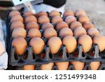 egg in the panel at the market | Shutterstock . vector #1251499348