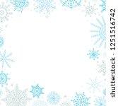 vector christmas banner in... | Shutterstock .eps vector #1251516742