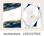 wedding invitation cards with... | Shutterstock .eps vector #1251517042