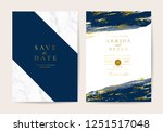 wedding invitation cards with... | Shutterstock .eps vector #1251517048