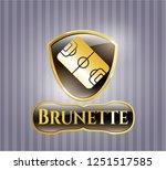 golden badge with football... | Shutterstock .eps vector #1251517585