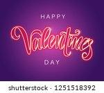 happy valentine's day vector... | Shutterstock .eps vector #1251518392