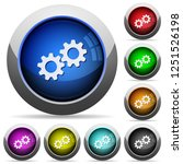 collaboration icons in round... | Shutterstock .eps vector #1251526198
