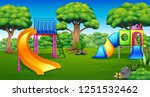 cartoon of playground in the...   Shutterstock .eps vector #1251532462