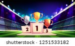 victory in sports competition... | Shutterstock .eps vector #1251533182