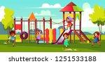 children playground cartoon...   Shutterstock .eps vector #1251533188