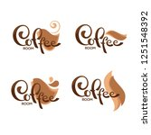 coffee shop and coffee room...   Shutterstock .eps vector #1251548392