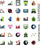 vector icon set   growth chart... | Shutterstock .eps vector #1251549202