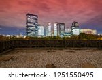 the empty terrace with the ... | Shutterstock . vector #1251550495