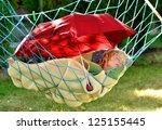 Child Sleeps In A Hammock In...