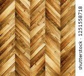 fragment of parquet floor.  | Shutterstock . vector #1251558718