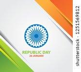 tricolor shape background.... | Shutterstock .eps vector #1251569812