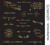 design elements | Shutterstock . vector #125158172