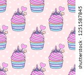 seamless pattern with cute... | Shutterstock .eps vector #1251587845