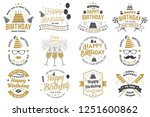 set of happy birthday templates ... | Shutterstock .eps vector #1251600862