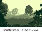 2d illustration. trees in the... | Shutterstock . vector #1251617962